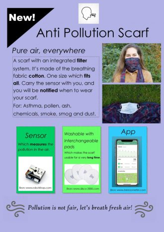 poster anti pollution mask !